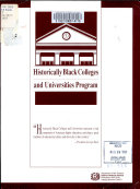 Historically Black Colleges and Universities Program