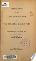 Proceedings  of The  Middle States Association of Colleges and Secondary Schools Annual Convention