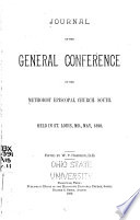 Journal of the General Conference of the Methodist Episcopal Church, South
