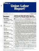 Union Labor Report Newsletter