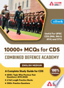Upsc Cds Topic Wise Previous Years 2010 2020 Solved Practice Questions Ebook
