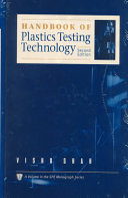 Handbook Of Plastics Testing Technology Book PDF