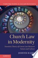 Church Law in Modernity