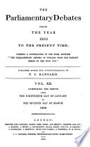 The Parliamentary Debates from the Year 1803 to the Present Time   19