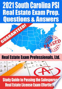 2021 South Carolina PSI Real Estate Exam Prep Questions   Answers Book