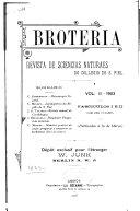 Brotéria; revista de sciencias naturaes do Collegio de S. Fiel