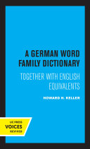 A German Word Family Dictionary