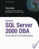 Beginning SQL Server 2000 DBA