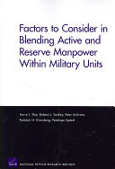 Factors to Consider in Blending Active and Reserve Manpower Within Military Units