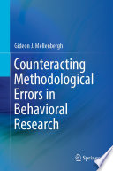 Counteracting Methodological Errors In Behavioral Research Book PDF