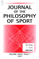 Journal of the Philosophy of Sport