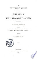 Report of the American Home Missionary Society