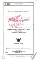 U.S. Agricultural Outlook
