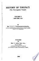 History of Tirupati