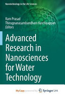 Advanced Research In Nanosciences For Water Technology Book PDF
