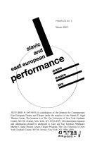Slavic and East European Performance ebook