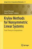Krylov Methods for Nonsymmetric Linear Systems