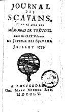 Le journal des sçavans, combiné avec les mémoires de Trévoux