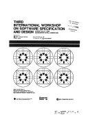 Third International Workshop on Software Specification and Design