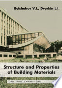 Structure and Properties of Building Materials Book