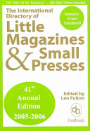 The International Directory Of Little Magazines And Small Presses 2005 2006