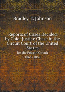 Pdf Reports of Cases Decided by Chief Justice Chase in the Circuit Court of the United States Telecharger