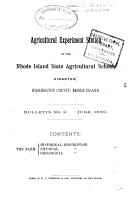 Bulletin - Agricultural Experiment Station, University of Rhode Island