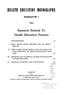 Research Related to Health Education Practice