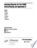 Emerging Materials for Post CMOS Devices/Sensing and Applications 8