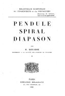 Pendule, spiral, diapason