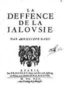 La defence de la jalousie