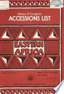 Accessions List, Eastern Africa