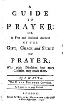 A guide to prayer     The fifth edition corrected