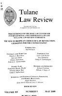 Proceedings Of The Duke Law Center For International And Comparative Law And Tulane Law Review Symposium