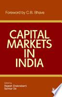 Capital Markets In India Book PDF