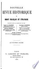 Nouvelle revue historique de droit français et étranger
