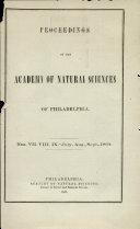 Proceedings OF THE ACADEMY OF NATURAL SCIENCES OF PHILADELPHIA. [Pdf/ePub] eBook