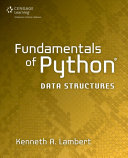 Fundamentals of Python: Data Structures, 1st ed.