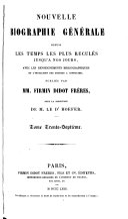 Nouvelle biographie universelle [afterw.] générale, publ. sous la direction de m. le dr. Hoefer