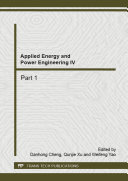 Applied Energy and Power Engineering IV
