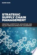 Strategic Supply Chain Management Book