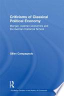 Criticisms Of Classical Political Economy