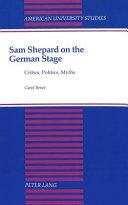 Sam Shepard on the German Stage