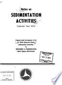 Notes on Sedimentation Activities
