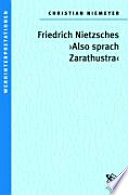 """Friedrich Nietzsches """"Also sprach Zarathustra"""""""