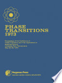 Phase Transitions   1973 Book
