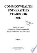 Commonwealth Universities Yearbook