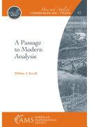 A Passage to Modern Analysis