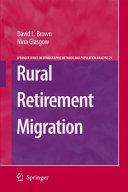 Rural Retirement Migration
