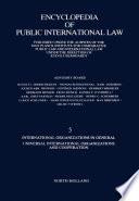 International Organizations In General Universal International Organizations And Cooperation